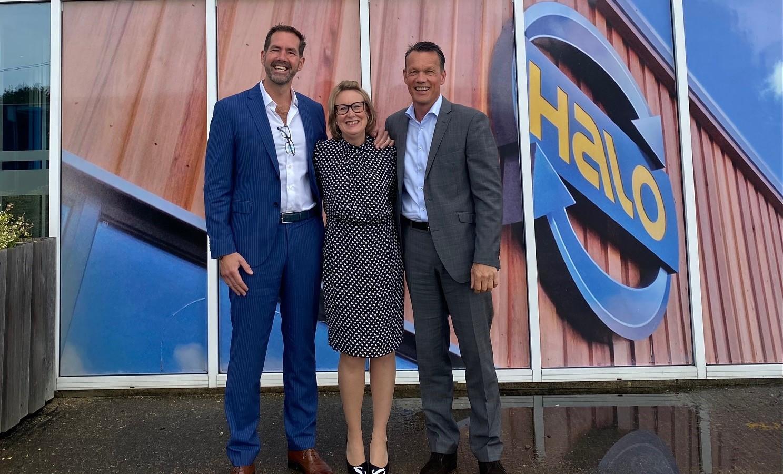 Bradley und Rosalind Hanson (HALO) & Matthias Rolinski (IRS)